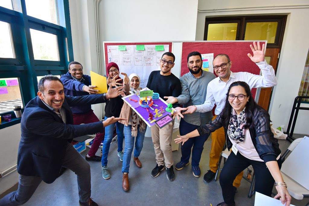 Team at Global Design Thinking Week in Cairo