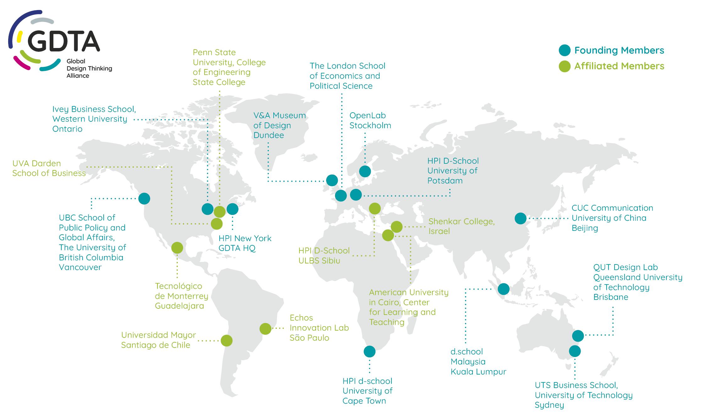 GDTA Members Map